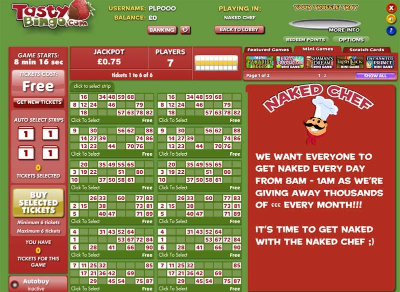 Tasty Bingo – £30 bingo bonus + £10 slots bonus lobby