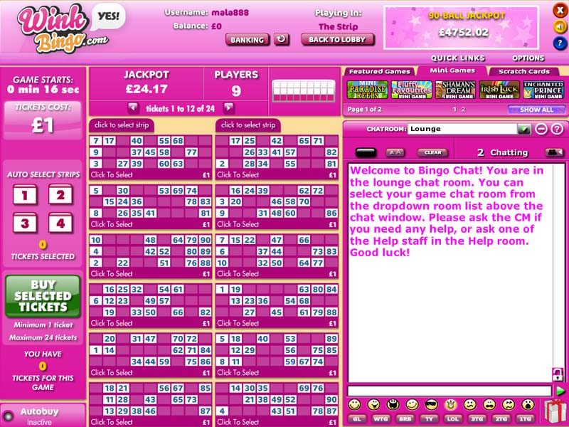 Wink Bingo – bonus 300% on bingo and 200% on games lobby