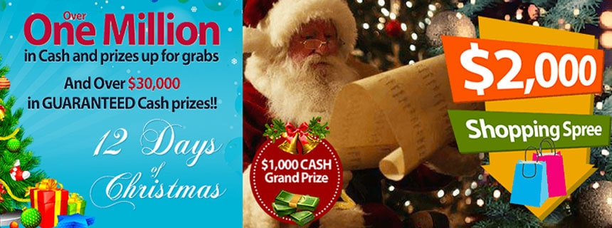 AmigoBingo's FAMOUS 12 Days of Christmas is even BIGGER than last year!