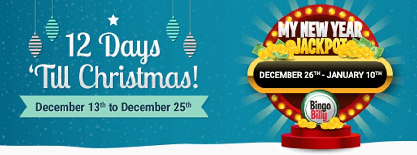 The Holiday Season is here and at Bingo Billy - be ready to share lots of love and incredible gifts and jackpots!