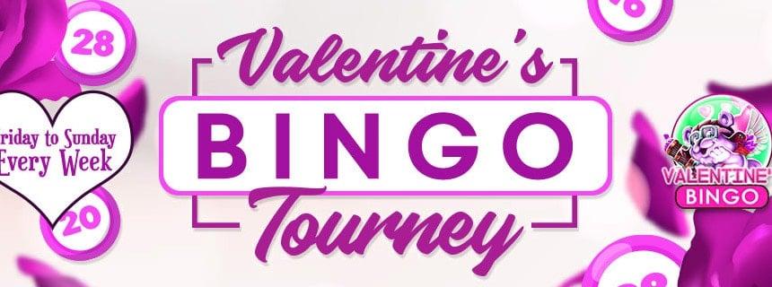 Valentine's Bingo Tourney – Fall in love with Cyber Bingo games!