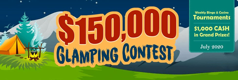 $150,000 Glamping Contest at Amigo Bingo July 2020