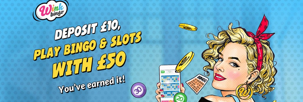 Earn your bingo cashback – DAILY at Wink Bingo