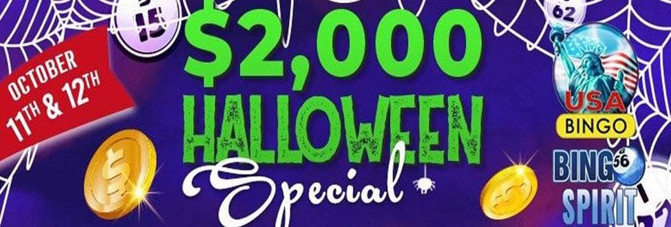 October 2020 – Score Fangtastic Wins in the $2,000 Halloween Special at Bingo Spirit