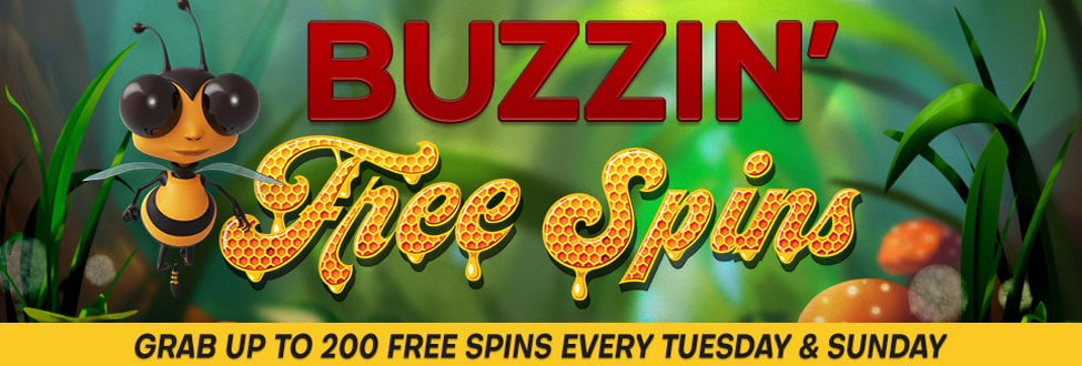 Special Buzzin' Free Spins when you make a deposit
