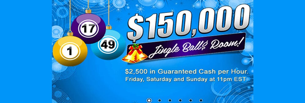 $150,000 Jingle Ball$ Room! Oh What Fun it is to Win at Amigo Bingo this year