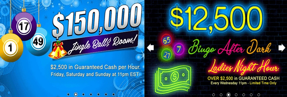 $150,000 Jingle Ball$ Room! Oh What Fun it is to Win at Canadian Dollar Bingo this year!
