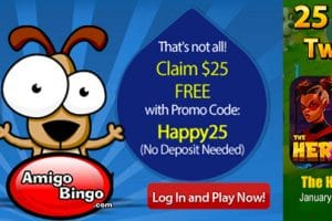 Saturday at AmigoBingo – get additional bonuses