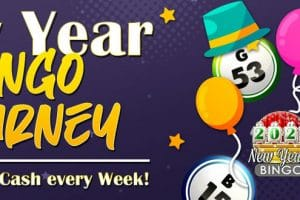 Win $1,600 cash in Bingo Fest New Year Bingo Tourney!