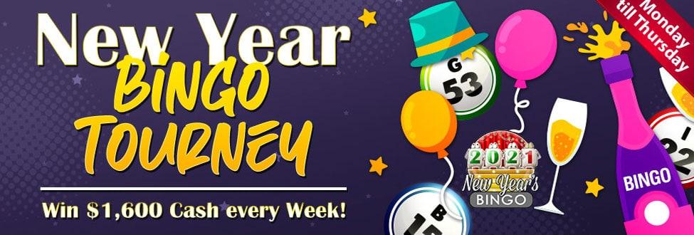 Win $1,600 cash in Bingo Fest New Year Bingo Tourney!