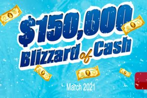 $150K Blizzard of Cash – March 2021 Main Room