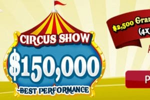 $150,000 Circus Show – April 2021 Best Performance at Amigo Bingo