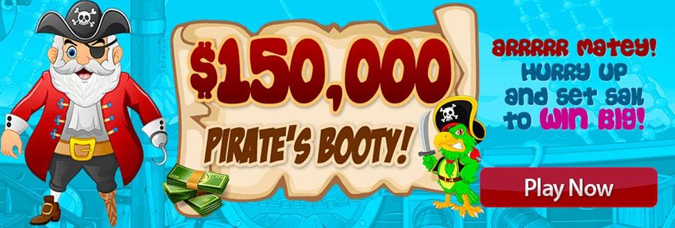 $150,000 Pirates Booty! - May 2021 Best Performance at Amigo Bingo